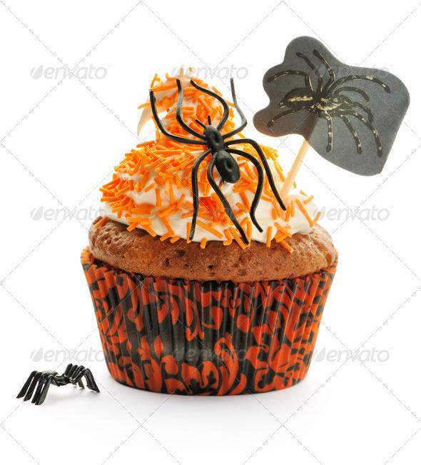 Halloween cupcake - Stock Photo - Images
