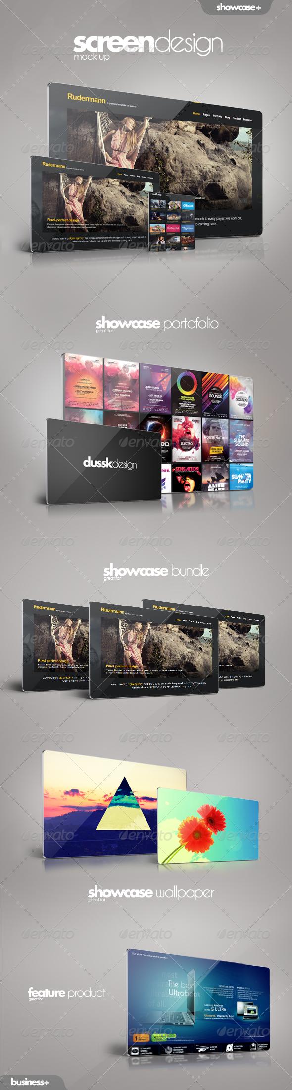 Screen Mockup - Website Displays