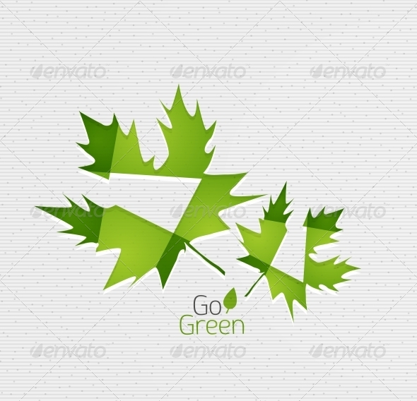 Leaf on Paper Template - Backgrounds Decorative