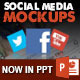 15 Social Media Posts Editable Mockups in PPT - GraphicRiver Item for Sale
