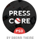 PressCore: multipurpose PSD template - ThemeForest Item for Sale