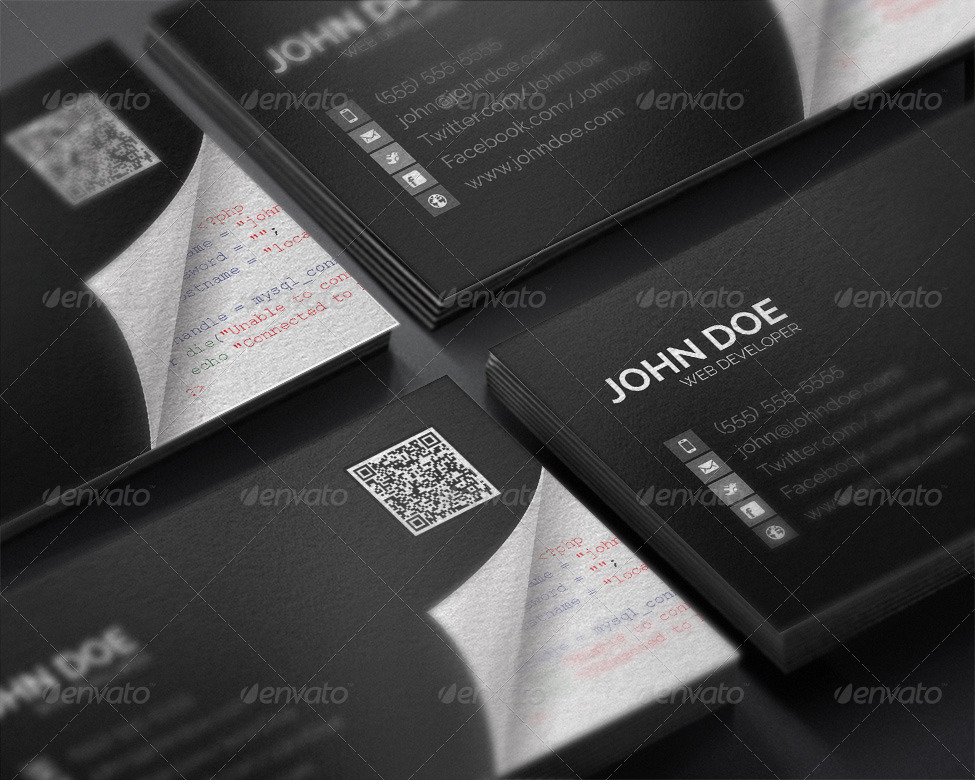 web developer business card - Fieldstation.co