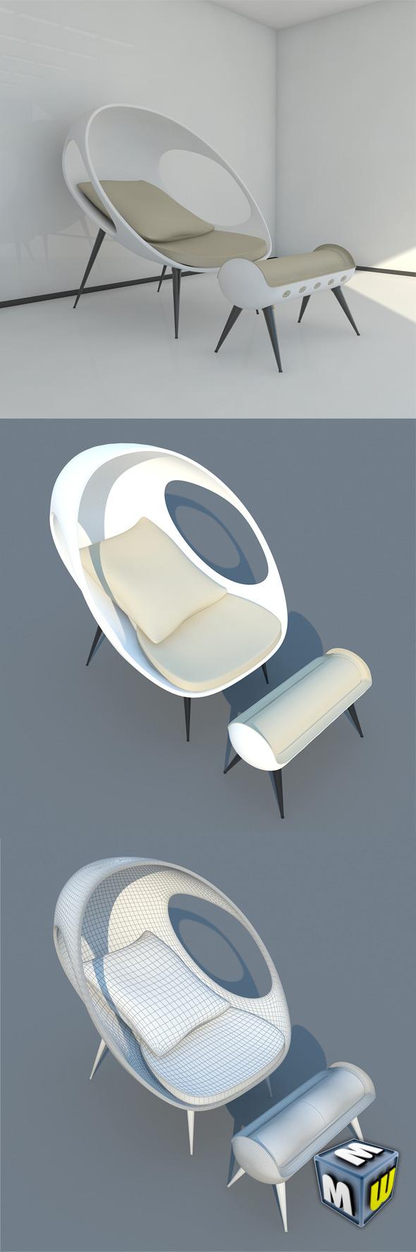 Modern Sofa Gefeva Lounge MAX 2011 - 3DOcean Item for Sale