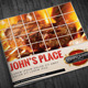 Bi-Fold Square Food Menu Template - GraphicRiver Item for Sale
