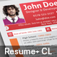 Color Resume & Cover Letter - GraphicRiver Item for Sale