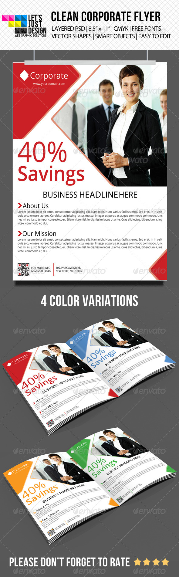 Clean Corporate Flyer - Corporate Flyers