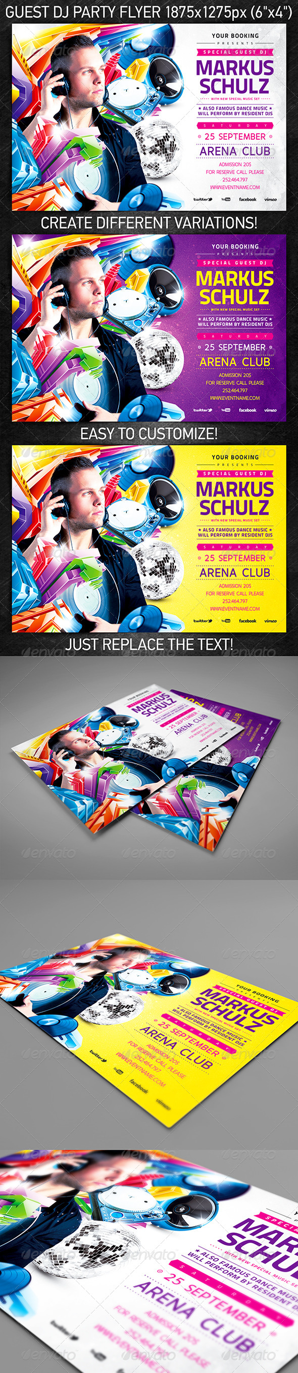 Guest DJ Party Flyer Vol.2 - Clubs & Parties Events