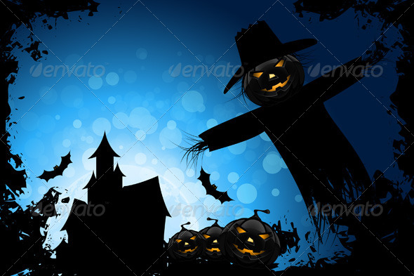 Grunge Halloween Party Background - Halloween Seasons/Holidays