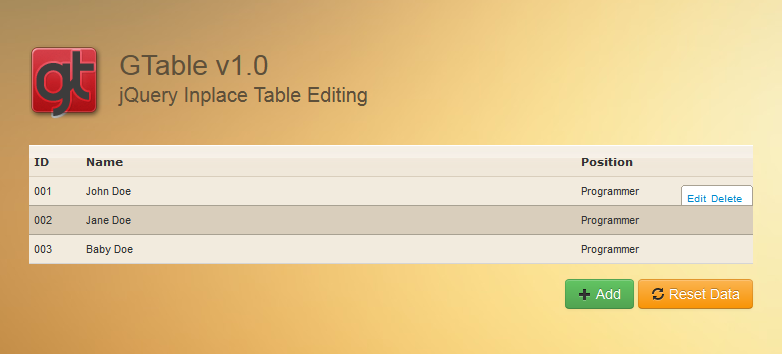 Bootstrap table inline edit phpsourcecode net for Css inline table