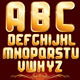 Golden Alphabet. Set of Metallic Letters. Vector - GraphicRiver Item for Sale