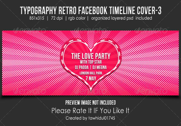 Typography Retro Facebook Timeline Cover-3 - Facebook Timeline Covers Social Media