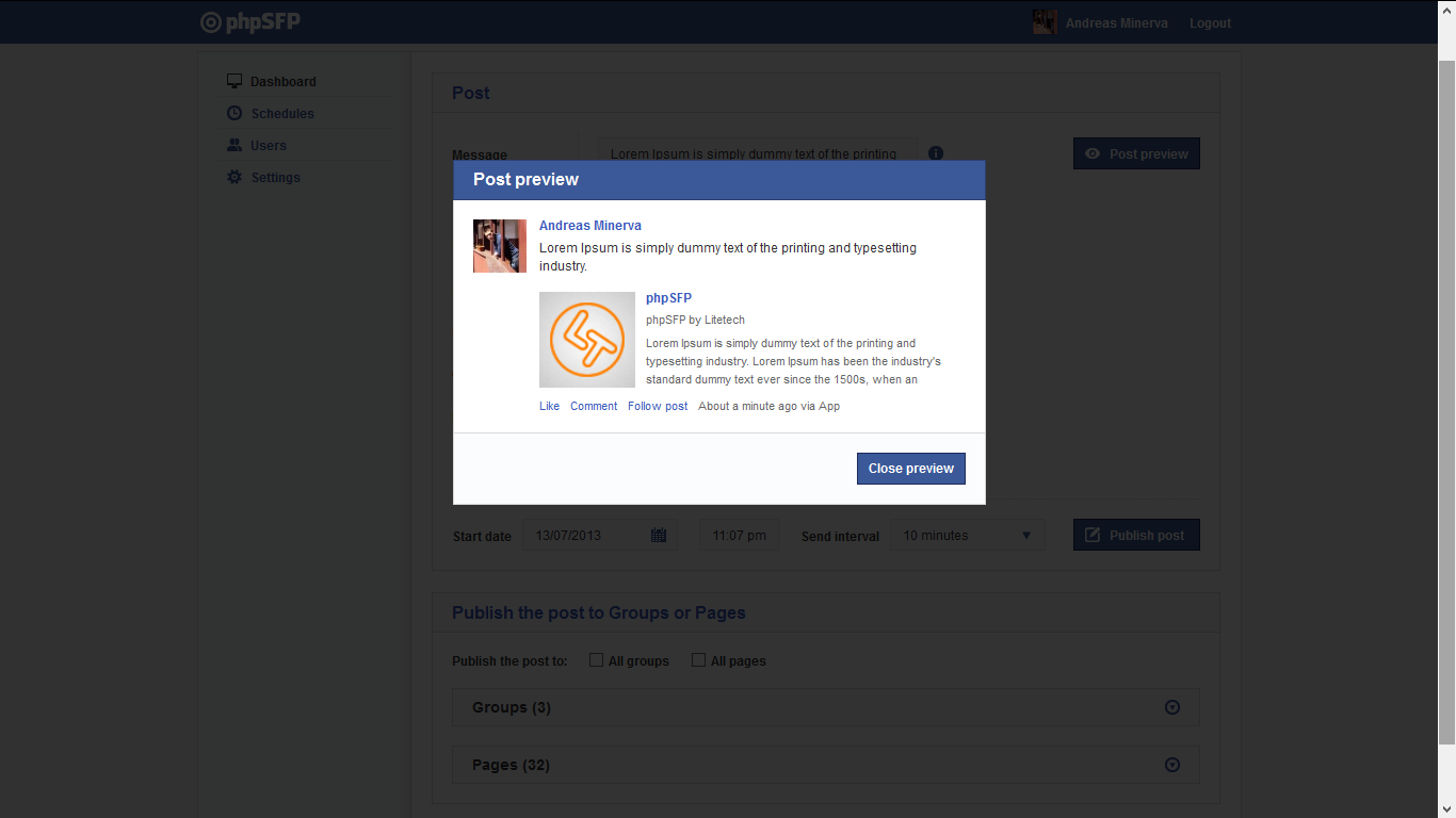 how to add a photo to a scheduled facebook post