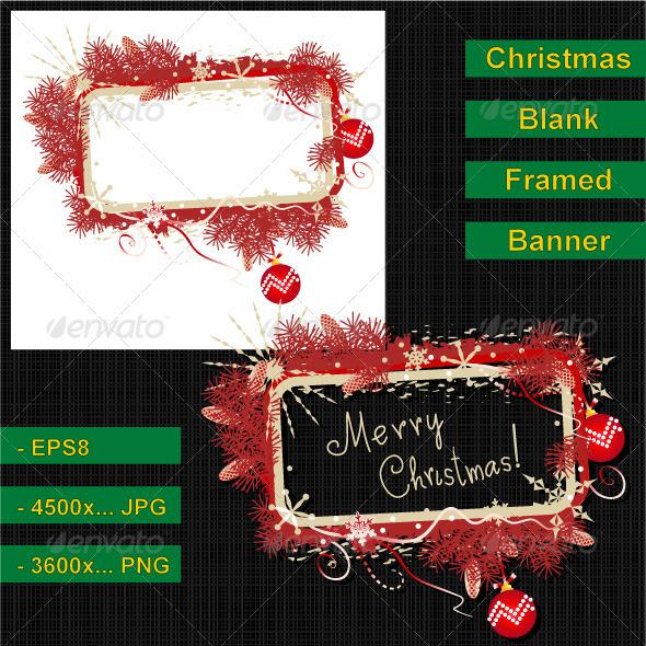 Red and Gold Christmas Banner - Christmas Seasons/Holidays