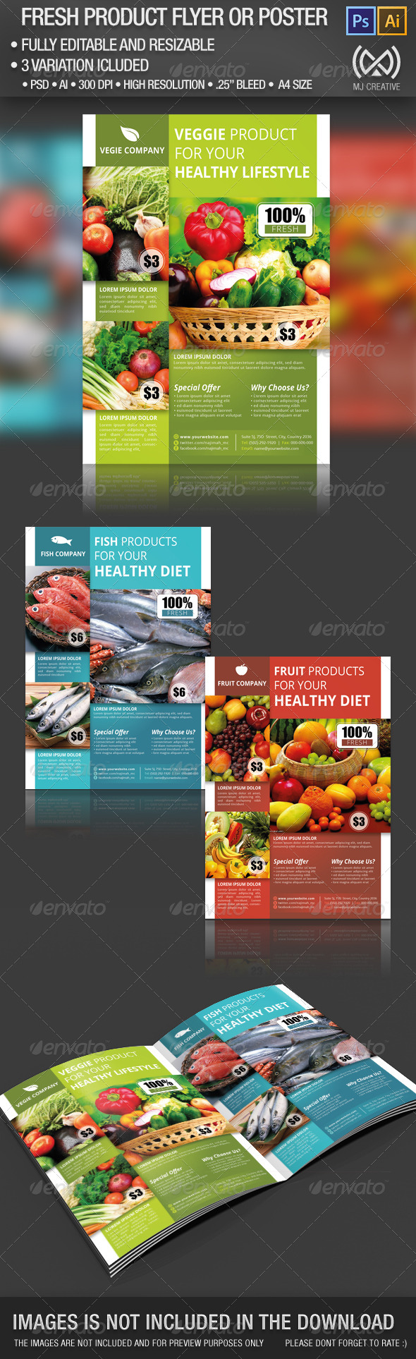Fresh Product Flyer & Poster - Commerce Flyers