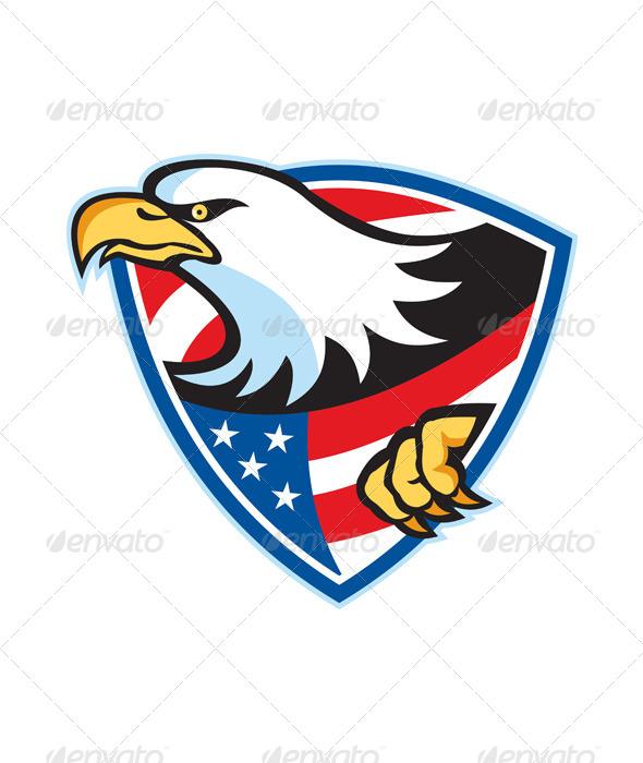 American Bald Eagle Flag Shield By Patrimonio Graphicriver
