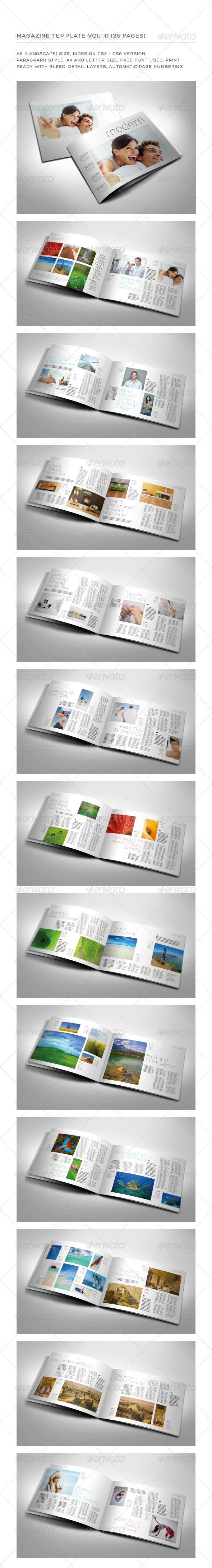 A5 Landscape 25 Pages mgz (Vol. 11) - Magazines Print Templates