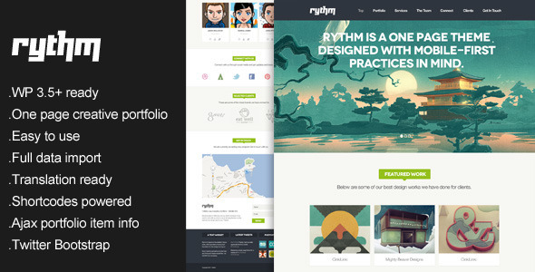 Rythm – One Page Responsive WordPress Theme