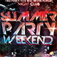Summer Party Weekend Flyer Template - GraphicRiver Item for Sale