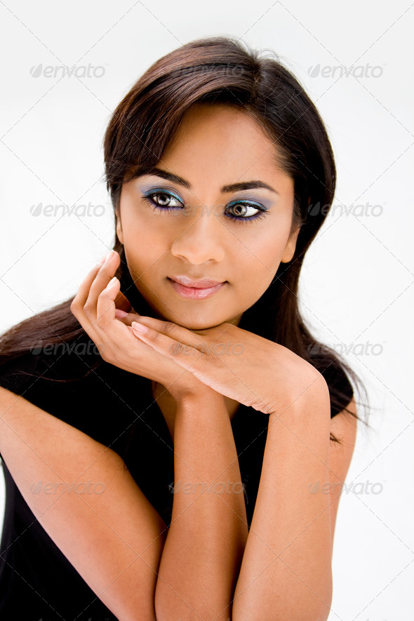 Beautiful Hindi woman - Stock Photo - Images