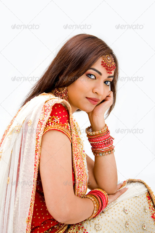 Beautiful Bengali bride - Stock Photo - Images
