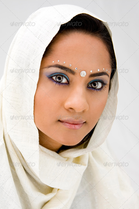Woman with scarf - Stock Photo - Images