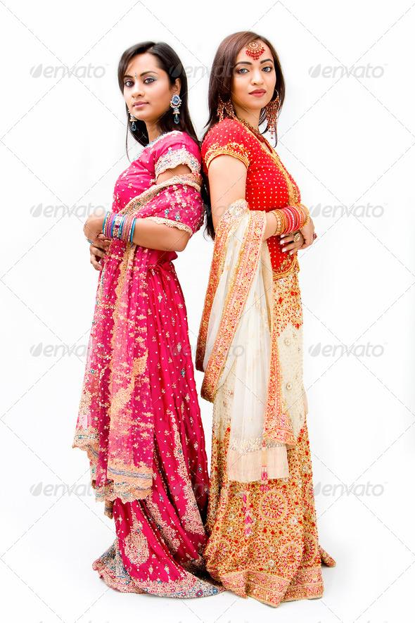Beautiful Bengali brides - Stock Photo - Images