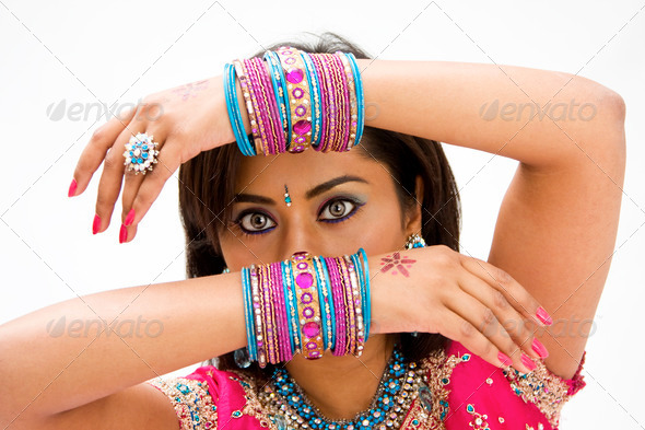 Face and hands - Stock Photo - Images