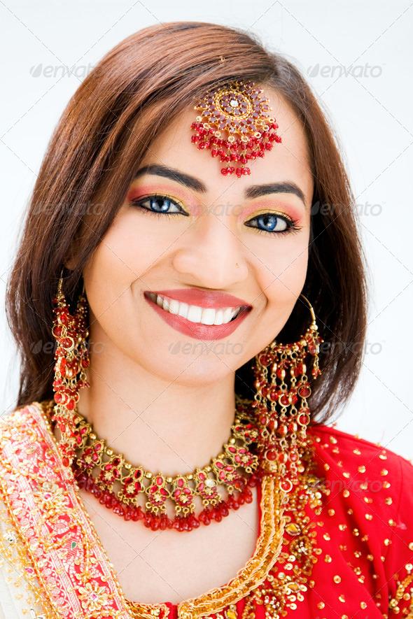 Beautiful Bangali bride - Stock Photo - Images