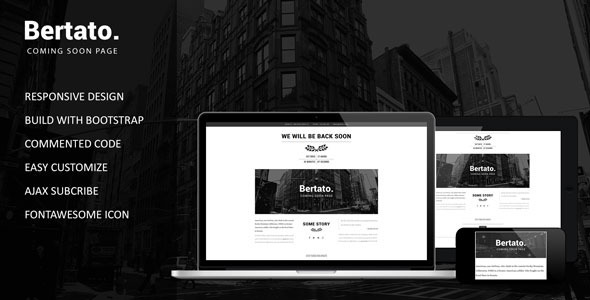 Bertato - Responsive Coming Soon Page
