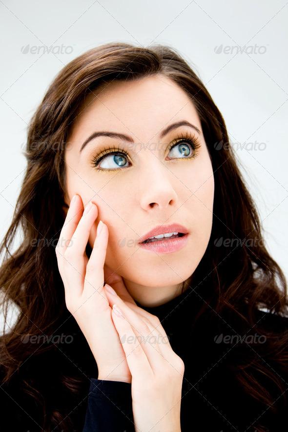 Blue eyed beauty - Stock Photo - Images