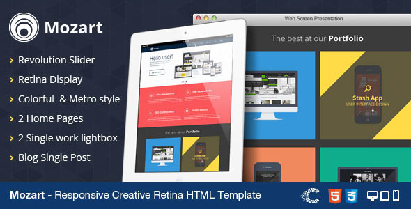 Exceptional Mozart - Creative Responsive Retina Flat Template