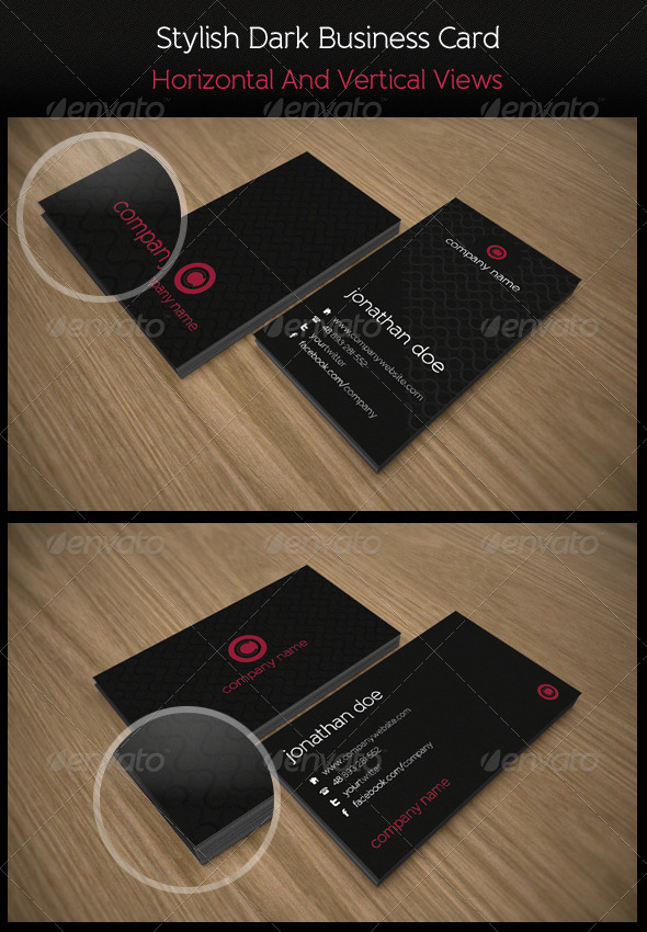 Stylish Dark Business Card - Corporate Business Cards