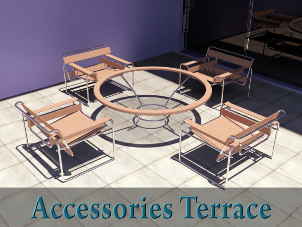 Patio Accessories - 3DOcean Item for Sale