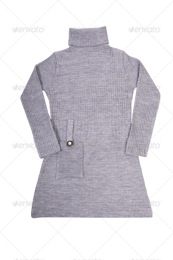 Fashionable long tunic on a white. - Stock Photo - Images