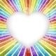 Retro Rainbow Heart Background - GraphicRiver Item for Sale