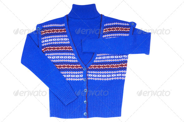 Stylish vest and sweater on a white. - Stock Photo - Images