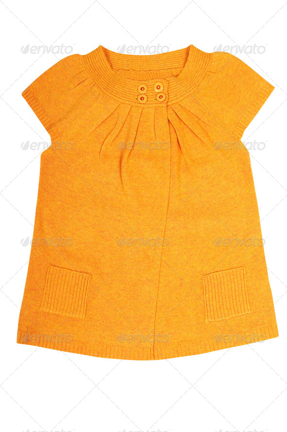 Modern  yellow  tunic on a white. - Stock Photo - Images