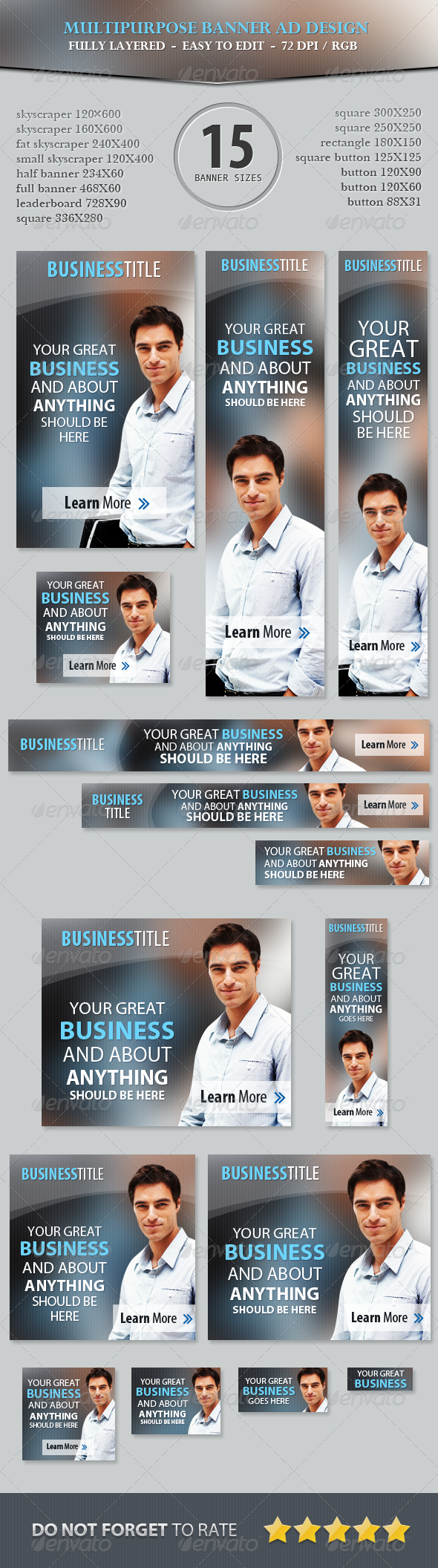 Multipurpose Business Banner ad Design - Banners & Ads Web Elements
