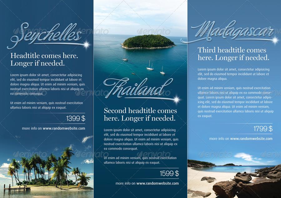 Azure Trifold Brochure By Salutovidiu  Graphicriver