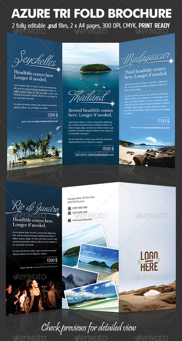 Azure TriFold Brochure - Corporate Brochures