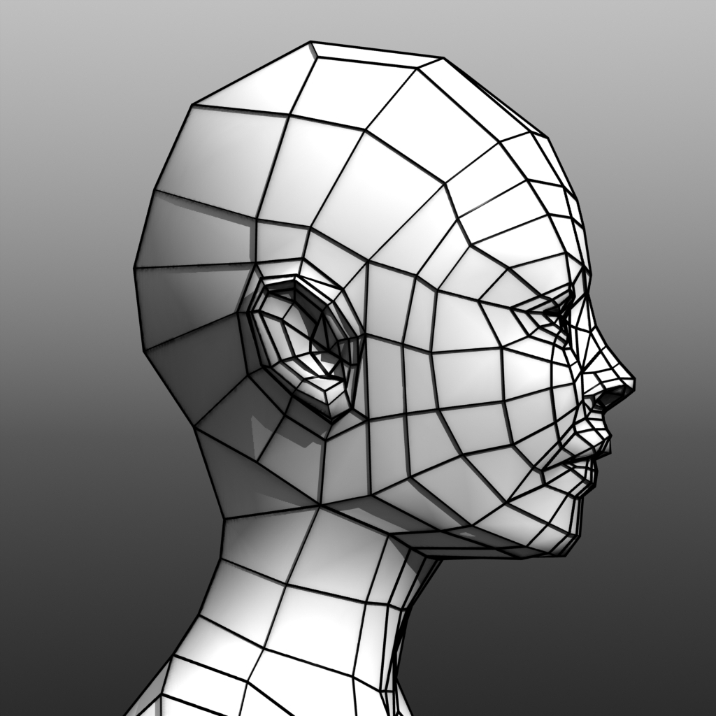 Low Poly Female Base Mesh By Giakaama 3docean