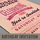 Retro Birthday Invitation 3 - GraphicRiver Item for Sale