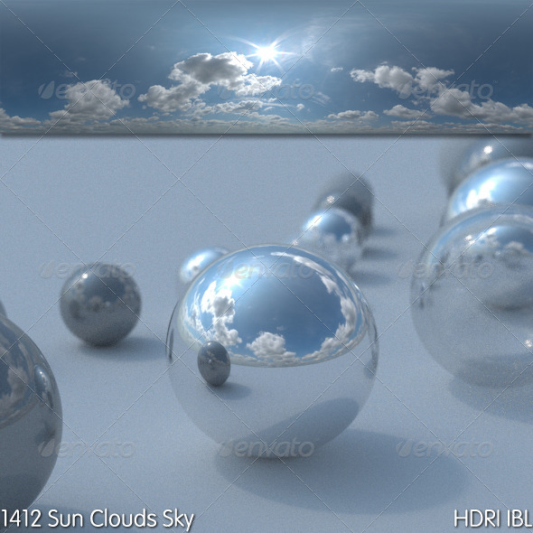 HDRI IBL 1412 Sun Clouds Sky - 3DOcean Item for Sale