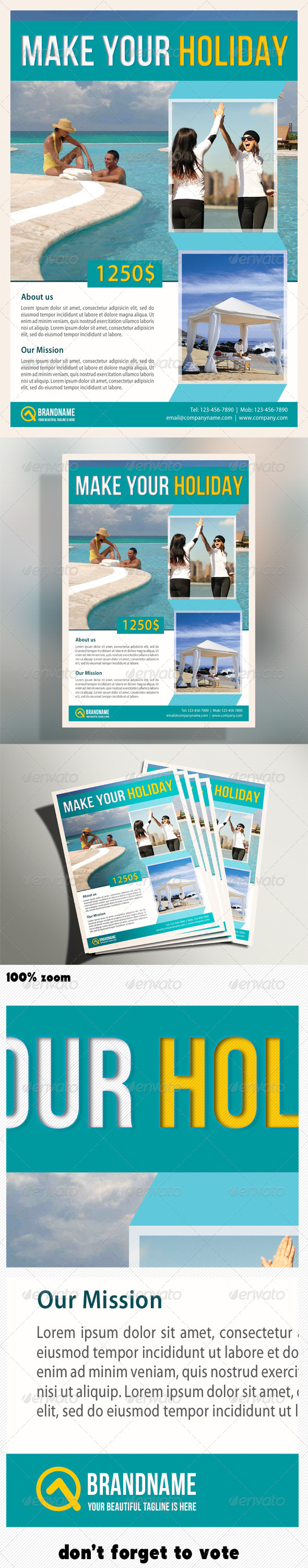 Corporate Product Flyer 08 - Holidays Events