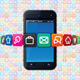 Smartphone with Internet Icons - GraphicRiver Item for Sale