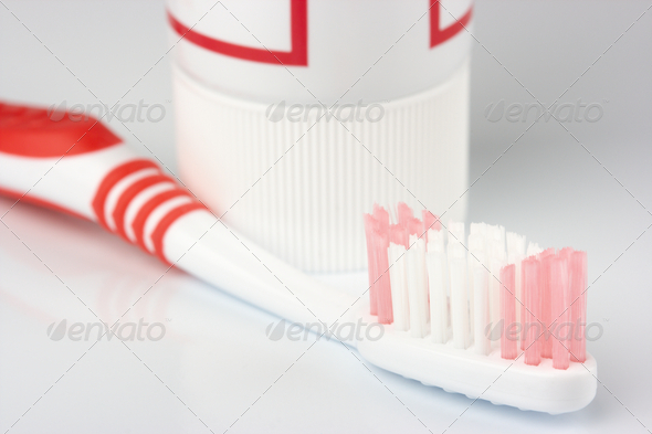 Toothbrush And Toothpaste - Stock Photo - Images