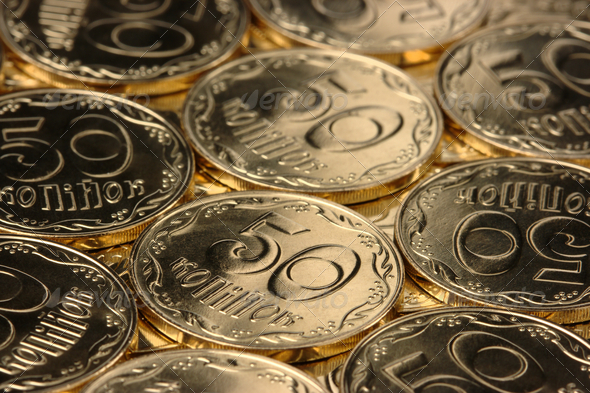 Golden Coins Background - Stock Photo - Images