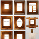 Photo Frames Made of Wood and Leather - GraphicRiver Item for Sale