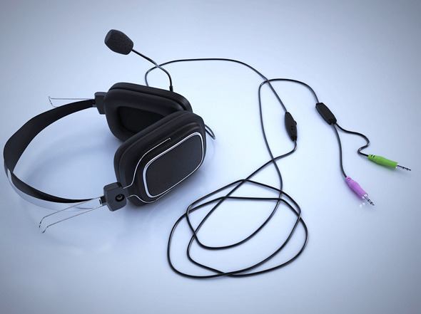 Realistic Headphones - 3DOcean Item for Sale