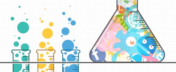 Brand in a beaker